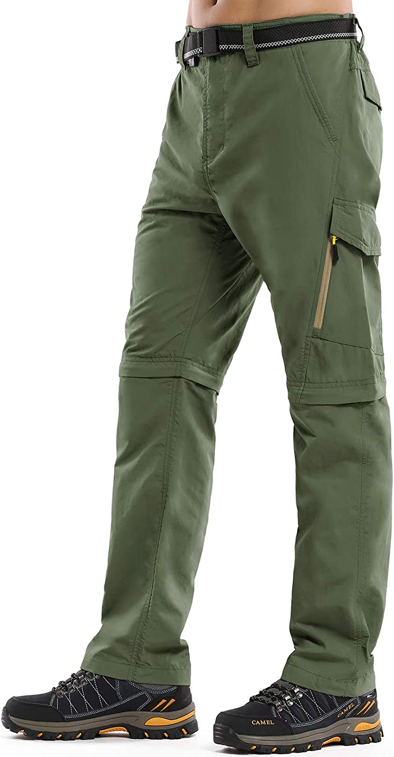SALENEW very popular! Mens Hiking Pants Convertible Quick Limited time trial price Zip Fish Dry Lightweight Off
