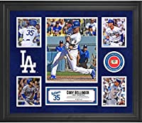 "Cody Bellinger Los Angeles Dodgers Framed 20"" x 24"" 5-Photo Collage with a Piece of Game-Used Baseball"