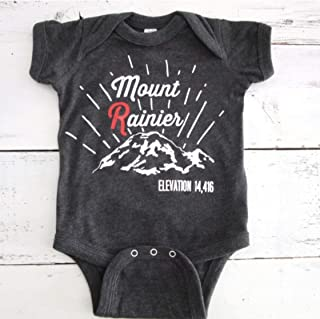 Mount Rainier baby onesie - PNW Rainier baby one piece - Pacific Northwest baby
