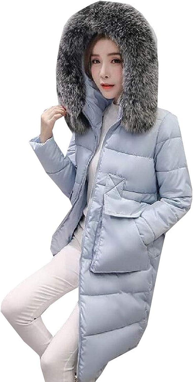 Maweisong Women's Winter Faux Fur Outwear Casual Parkas Jackets Down Jacket Hoodie