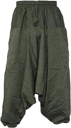 Pantalones estilo ninja, genio, Aladino, harén Little Kathmandu, pantalones de algodón ligero para hombres