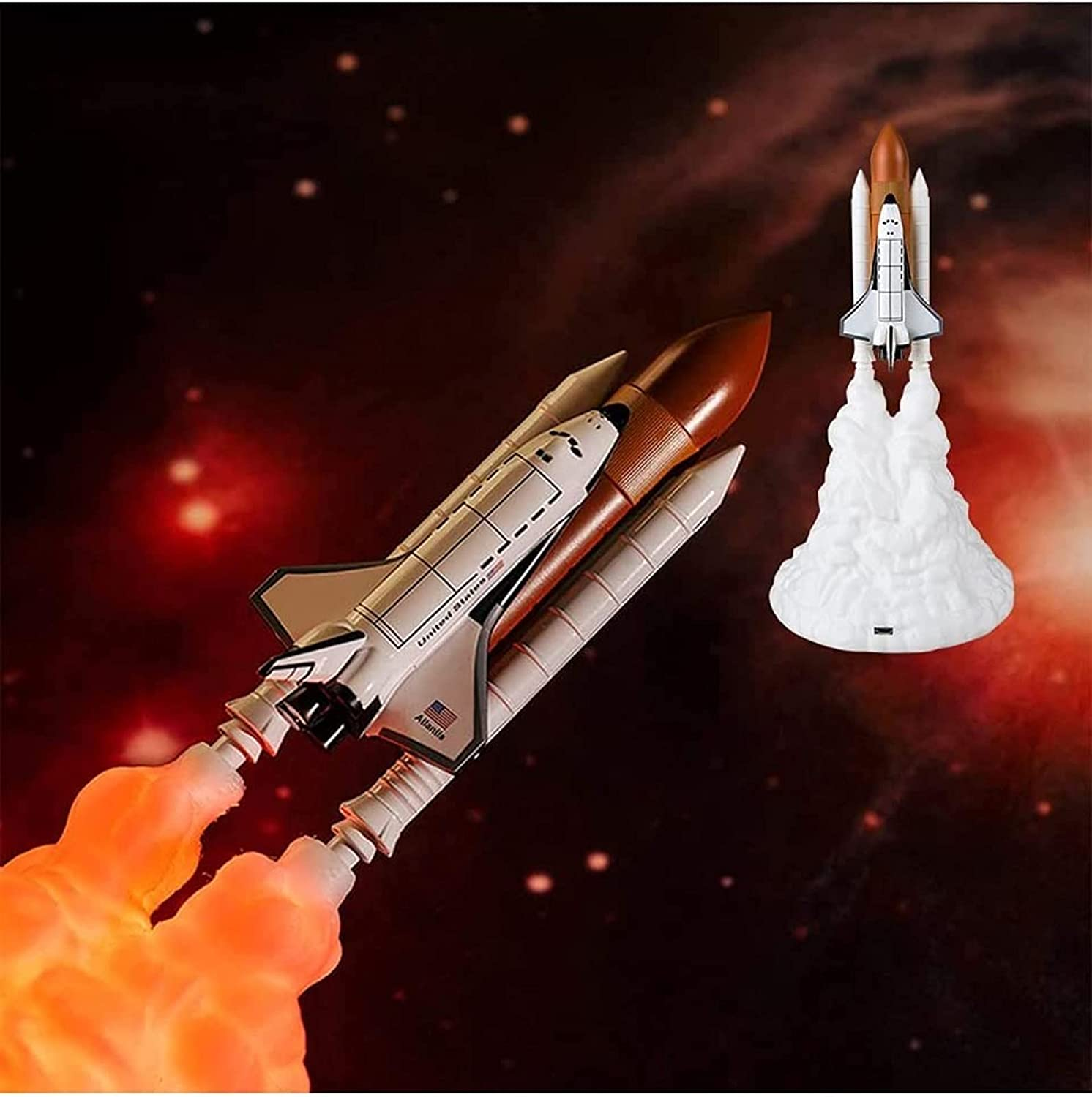 Purchase HAIFENGDA OFFicial shop 3D Print Rocket Night Light Space 11in Mo LED Shuttle