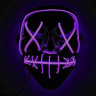 comprar comparacion Immoch Halloween LED Máscaras Adultos LED Mask para la Fiesta de Disfraces, la Navidad, Cosplay Grimace Festival Party Show