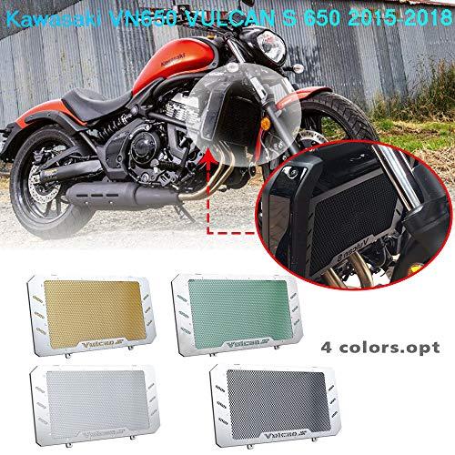 Lorababer Motorrad Motor Kühler Lünette Kühlergrill Schutzabdeckung Schutz für Kawasaki VN650 VN 650 Vulcan S 650 2015 2016 2017 2018(Schwarz)