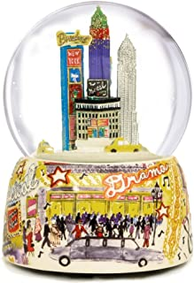 NYC Broadway Musical Water Globe by The San Francisco Music Box Company