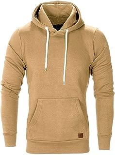Men Autumn Winter Long Sleeve Casual Sweatshirt Hoodies Solid Color Tracksuits