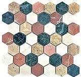 mosaico azulejos m/ármol piedra natural Hexagon m/ármol blanco Carrara para suelo pared ba/ño inodoro ducha cocina azulejos Espejo Mostradores cubierta para ba/ñera Mosaico Matte mosaico placa