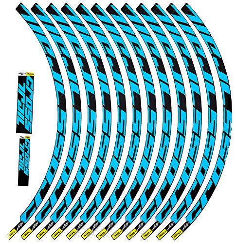Ecoshirt AF-JHM2-1RD9 Pegatinas Stickers Llanta Rim Mavic Crosstrail Bike 27,5' Am58 MTB Downhill, Azul 26'