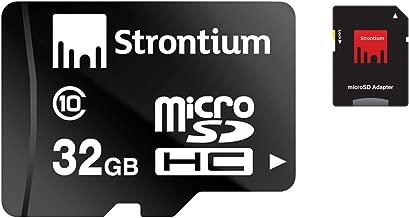 Strontium 32GB Class 10 MicroSDHC Memory Card with SD Adaptor (SR32GTFC10A)