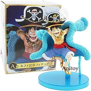 MNZBZ Anime One Piece 20th Anniversary Straw Hat Crew Monkey D Luffy PVC Figura de colección Modelo de Juguete 14cm Figurita Luffy