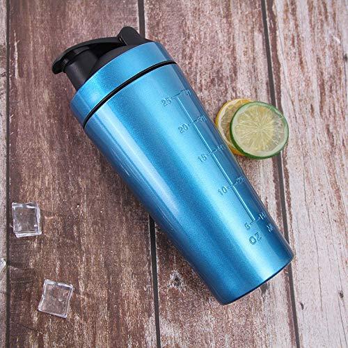 Jusemoa - Botella de agua de acero inoxidable para deportes al aire libre (960 ml), color azul