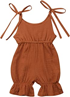 SAYOO Baby Girls' Romper Sleeveless Jumpsuit Sunsuit Outfit Clothes