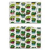 Manteles individuales de cactus de gato 989, resistentes al calor, alfombrillas de mesa antideslizantes y lavables