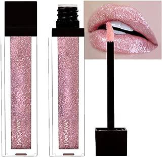 Bosunshine Sexy Chameleon Gold Metal Matte Metallic Lipgloss Long Lasting Waterproof Liquid Lipstick Shimmer Diamond Gillter Pearl Colour Lip Gloss Lip Makeup (01)