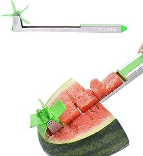 HUISHENG Cortador de Sandía, Molino de Viento Cocina Rebanador Cuchillo de Fruta para Cortar Sandía Melón