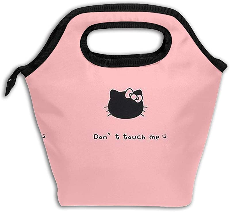Xzcxyadd Large Size Hello Kitty In Black Lunch Bag Picnic Lunch Bag For Kids Insulated Lunch Bag Ice Lunch Box Containers For For Men Women Adults School