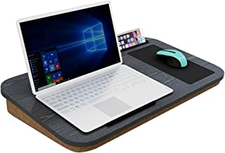 HOME BI Lap Desk for Laptop with Built-in Mouse Pad and Cellphone Tablet Holder,Fits up to 15