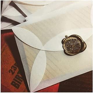 100pcs Retro Translucent Envelopes, DIY Clear Parchment Paper Mailer Envelope Folder Wedding Party Invitation Cards