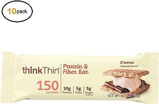 Think! Thin Prоtеin and Fibеr Bar - S'Mоrеs - Casе оf 10-1.41 оz - Bulk Buy