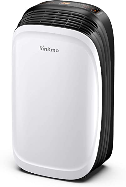 RINKMO 30 Pint Dehumidifier For Home Basements Bedroom Garage Safe Mid Size Portable Dehumidifiers For Medium Spaces Up To 1050 Sq Ft With Continuous Drain Hose Outlet To Reduce Moisture