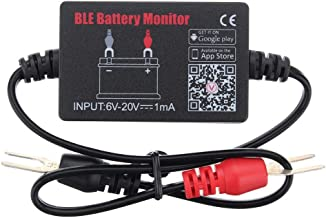 BUNKER INDUST Battery Monitor BM2 Bluetooth 4.0 Wireless Battery Tester 12V Automotive Battery Load Tester,Automotive Charging and Cranking System Monitor Digital Battery Analyzer for Android & iOS