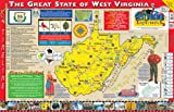 Gallopade Publishing Group 22 x 34 Inches The West Virginia Experience Poster/Map (9780793397877)