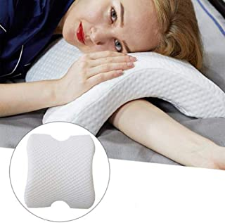 Gereton Arch Neck Pillow, Couple Sleeping Bed Pillow Memory Foam Slow Rebound Pressure Arm Support Side Sleeper Prevent Hand Arm Numbness Protection Massage Pillow for Lunch Break