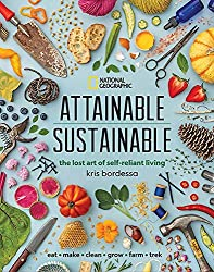 A guide book showing ways to be more eco-friendly, live more sustainably and be more selr-reliant