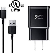 USB Type C Charger Cable and Adaptive Fast Charging Wall Charger Adapter Kit Compatible with Samsung Galaxy S10/S10+ S10e /S9/S9+/S8/S8+ Plus Note 8/Note 9 & Other Smartphones