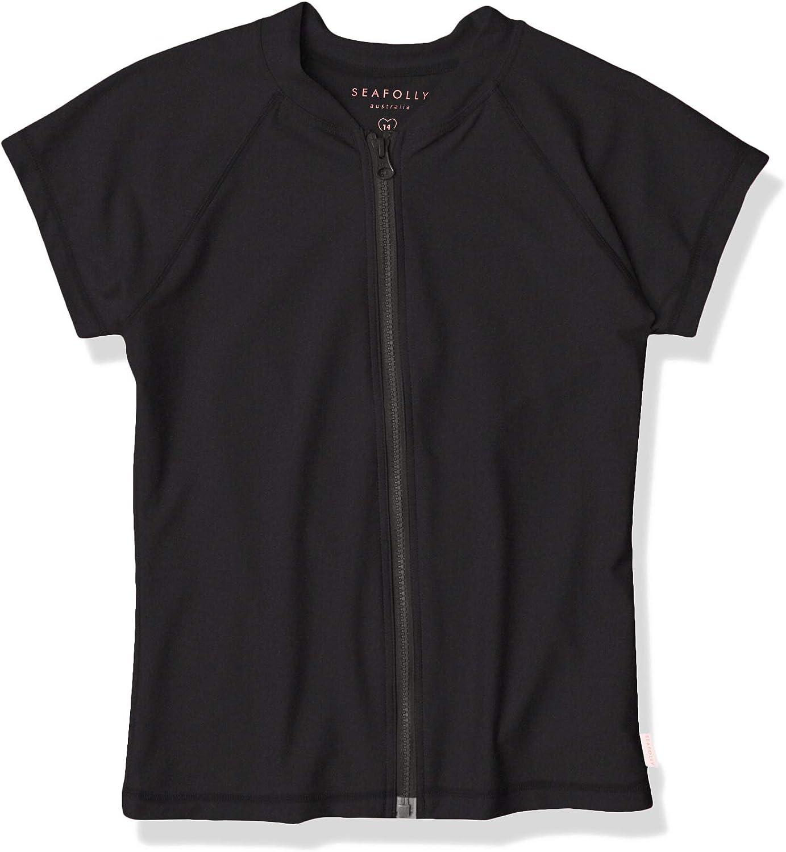 Seafolly Women's Short Sleeve Zip Front Rashguard