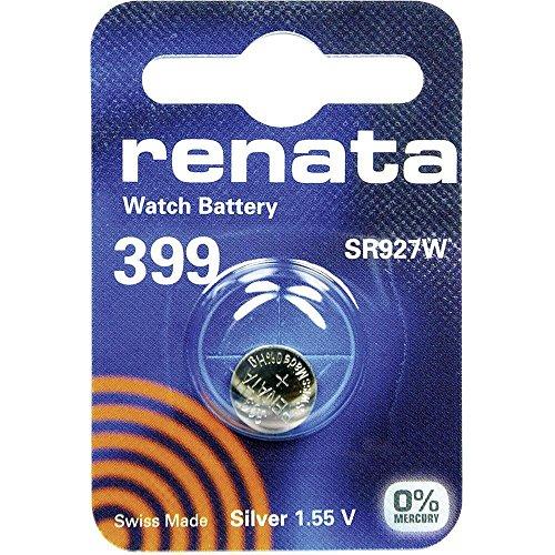 399 (SR927SW) Batteria Pulsante / Ossido di Argento 1.55V / per Orologi, Torce, Chiavi della Macchina, Calcolatrici, Macchine Fotografiche, etc / iCHOOSE