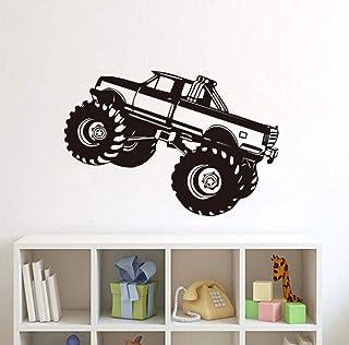 Wall Mural Art Mural para Boy Racing Truck Wallpaper Vinilo Decorativo Wallpaper Flor Decoración para el Hogar Habitación 65 * 44 CM