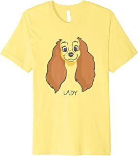 Lady and the Tramp Lady Face Sketch Costume Premium T-Shirt