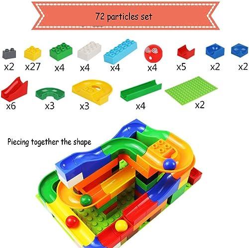 QXMEI Kinder Bausteine Spielzeug Größe Kornpuzzle 48 Korn Track Block,72particles