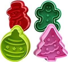 joyliveCY Bola de Adorno de Navidad árbol de Navidad muñeco de Jengibre Muñeco de Nieve Cortador de émbolo