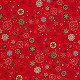 Fabulous Fabrics Baumwollstoff Popeline Sterne Kugeln –