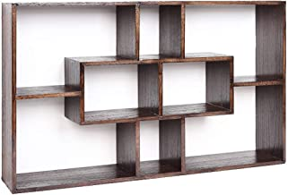 LHQ-HQ Kids Book Shelf Boekenplank boekenkast wanddecoratie frame Houten rooster Staggered Cube boekenkast met 8 planken
