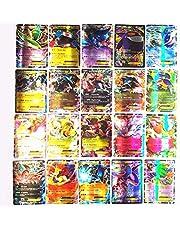 100 Pcs Poke Kaarten Compatibel Voor Pokemon Kaart Set, Flash Kaarten Tcg Stijl Kaarten Mega Kaarten Fun Family Games Kaarten, 60 Ex + 20Mega + 20Gx