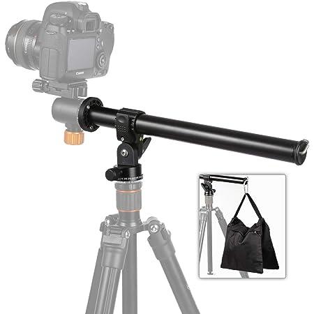 TARION 三脚ブーム+サンドバッグ カメラ延長アーム 耐荷重8kg 延長ポール 三脚用センターポール 傾斜回転 マクロ撮影 一眼レフカメラ用