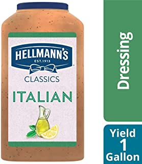 Hellmann's Classics Italian Salad Dressing Jug Gluten Free, No Artificial Flavors, Colors or High Fructose Corn Syrup, 1 gallon, Pack of 4