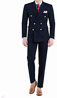 Men's 2 Piece Suits Double Breasted Slim Fit Formal Wedding Prom Tuxedos