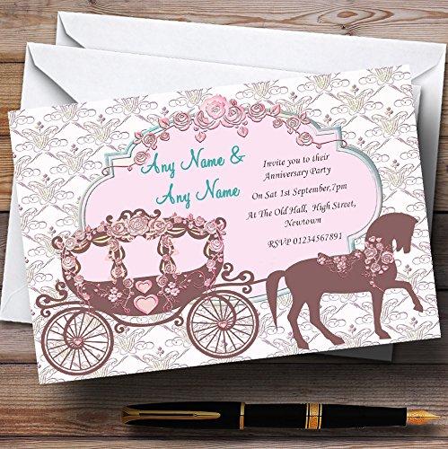 Paard en vervoer Vintage bruiloft briefpapier verjaardag partij gepersonaliseerde uitnodigingen/uitnodigingen & enveloppen