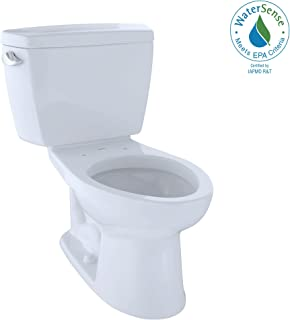 TOTO CST744EL#01 Eco Drake Two-Piece Elongated 1.28 GPF ADA Compliant Toilet, Cotton White
