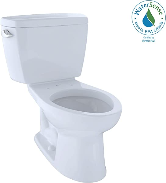 TOTO CST744EL 01 Eco Drake Two Piece Elongated 1 28 GPF ADA Compliant Toilet Cotton White
