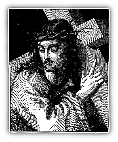 Jesus Christ Sketch Religion Art Decor Vinyl Sticker Aufkleber 10 x 12 cm