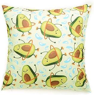 Funda de Almohada Suave de Dibujos Animados para sofá, Coche, Oficina, hogar, cojín Decorativo (Verde, Aguacate)