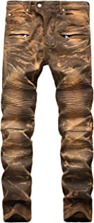 CYJ-shiba Women Vintage Denim Pants Jeans Wide Leg Embroidery Drawstring Pants