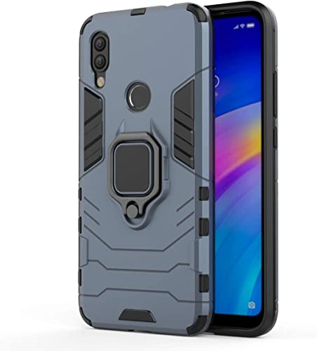SKIN WORLD D5 Robotic Shock Proof Duel Layer Hybrid Armor Back Cover Case with Kickstand for XIAOMI REDMI Note 7 Note 7S Note 7 PRO Blue
