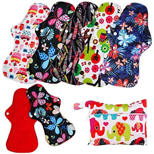 Color Microfleece Heavy Flow Cloth Sanitary Reusable Menstrual Pads