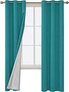 Best teal silver curtains Reviews